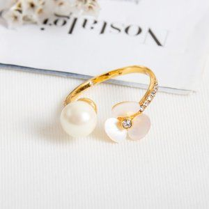 Kate Spade Disco Pansy Adjustable Ring Size: 7